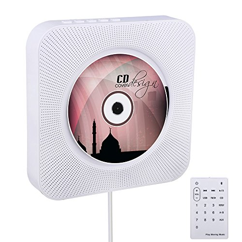 bluetooth cd player viflykoo wand montierbar hifi lautsprecher radio mit fernbedienung usb mp3. Black Bedroom Furniture Sets. Home Design Ideas