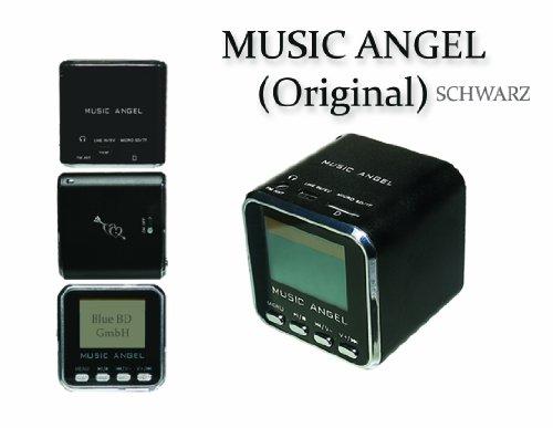music angel original schwarz tragbarer mini stereo. Black Bedroom Furniture Sets. Home Design Ideas