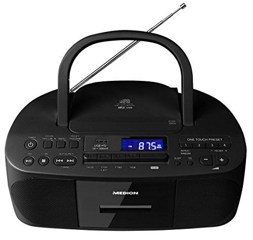 medion e64070 md 43089 stereoradio inklusive cd rekorder kassette tape usb port aux in mp3. Black Bedroom Furniture Sets. Home Design Ideas