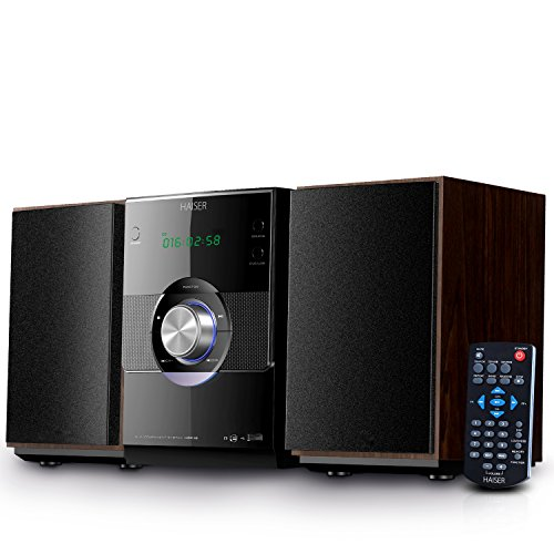 haiser hsr 115 20 watt rms mit cd player bluetooth usb boxen fm radio led front. Black Bedroom Furniture Sets. Home Design Ideas