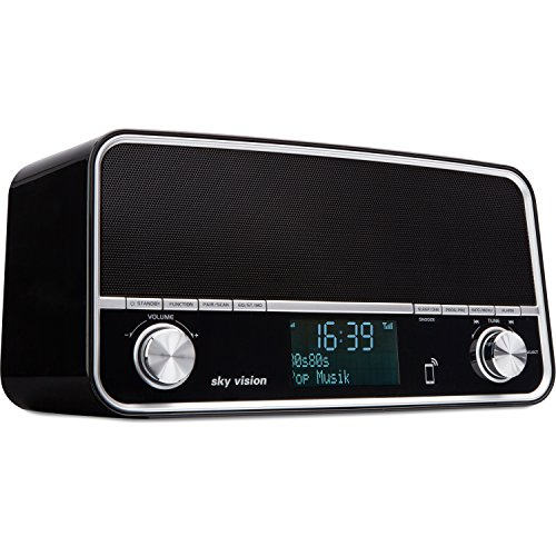 retro digital radio und bluetooth stereo lautsprecher in einem usb ladeger t wecker dab fm. Black Bedroom Furniture Sets. Home Design Ideas