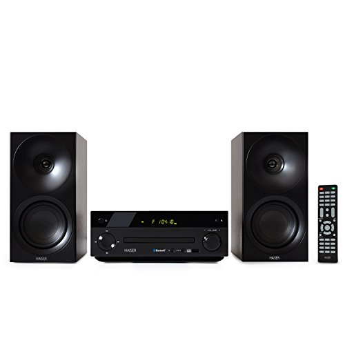 haiser hsr 118 40 watt rms mit cd player bluetooth usb boxen fm radio stereoanlage. Black Bedroom Furniture Sets. Home Design Ideas
