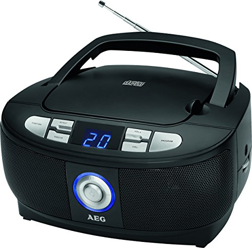 aeg sr 4379 stereoradio mit cd led display schwarz cetorp. Black Bedroom Furniture Sets. Home Design Ideas