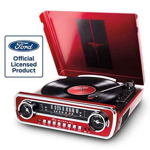 Eingebaute Lautsprecher Ion Audio Mustang Lp Rot 4 In 1
