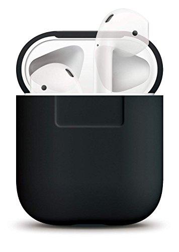 new style ca794 e7dd2 Schwarz - elago Silikonhülle Kompatibel mit Apple AirPods 1   2 LED an der  Frontseite Nicht Sichtbar - Unterstützt kabelloses Laden Stoßfeste  Schutzhülle ...