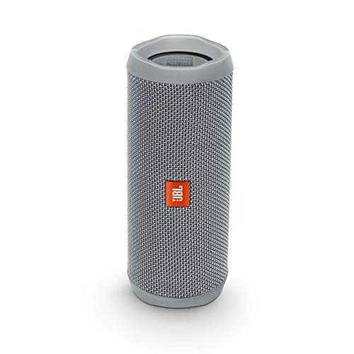 8ccd0542f8813c Wasserdichter, tragbarer Lautsprecher mit Freisprechfunktion &  Sprachassistent – JBL Flip 4 Bluetooth Box in Grau – Bis zu 12 Stunden  Wireless Streaming mit ...